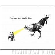 Laser Chicken Greeting Card