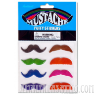 Puffy Mustache Stickers
