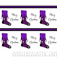Goth Purple Stocking Wrapping Paper