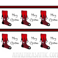 Gothic Red and Black Stocking Wrapping Paper