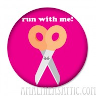 Run With Me Metal Button