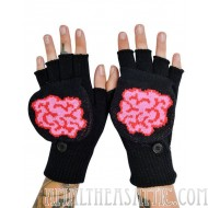 Too Fast Flip Back Convertible Brain Gloves Mittens
