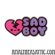 Sad Boy Soft Enamel Pin