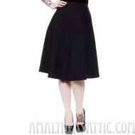 Donna Swing Skirt Black