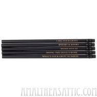 Creepy Black Pencil Set
