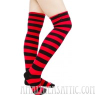 "20"" Black and Red Button Socks"