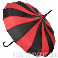Black and Red Pagoda Umbrella