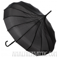 Sourpuss Black Pagoda Umbrella