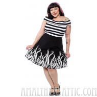 Ocean Deep Tentacles Skater Skirt