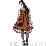 Sourpuss Hi-lo Dolly Dress Nutmeg and Black