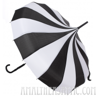 Black and White Striped Pagoda Umbrella