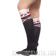 "Sourpuss 17"" Sugar Skull Knee High Socks"