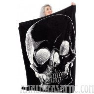 Sourpuss Skull Blanket