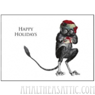 Tarsier Happy Holidays Greeting Card