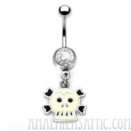 Skull Belly Ring