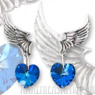 El Corazon Swarovski Hearts Earrings