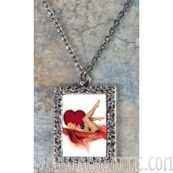 Valentine Pin Up Girl Pendant