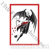 Devilish Valentine Postcard 20 Pack