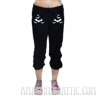 Too Fast Cropped Bat Sweatpants